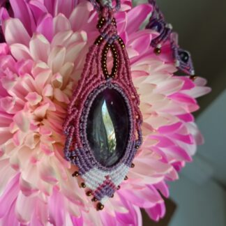 Handmade macrame necklace-KalaSandra-Grace