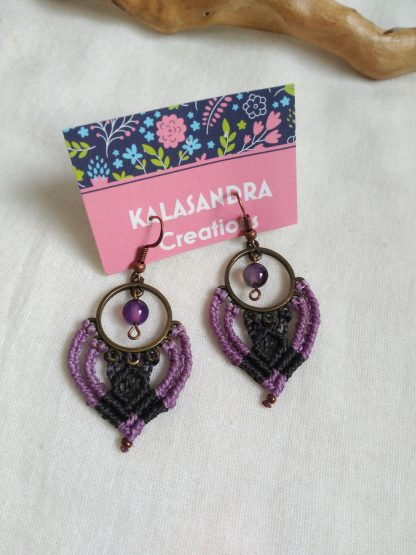 Unique Handmade Macrame Earrings