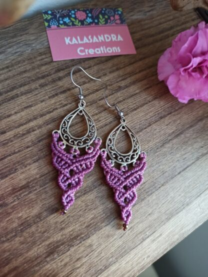 ROSE MACRAME earrings